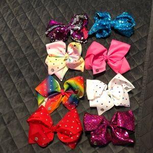 8 pack jojo siwa bows like new